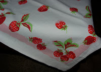 Vintage Tablecloth with Strawberries