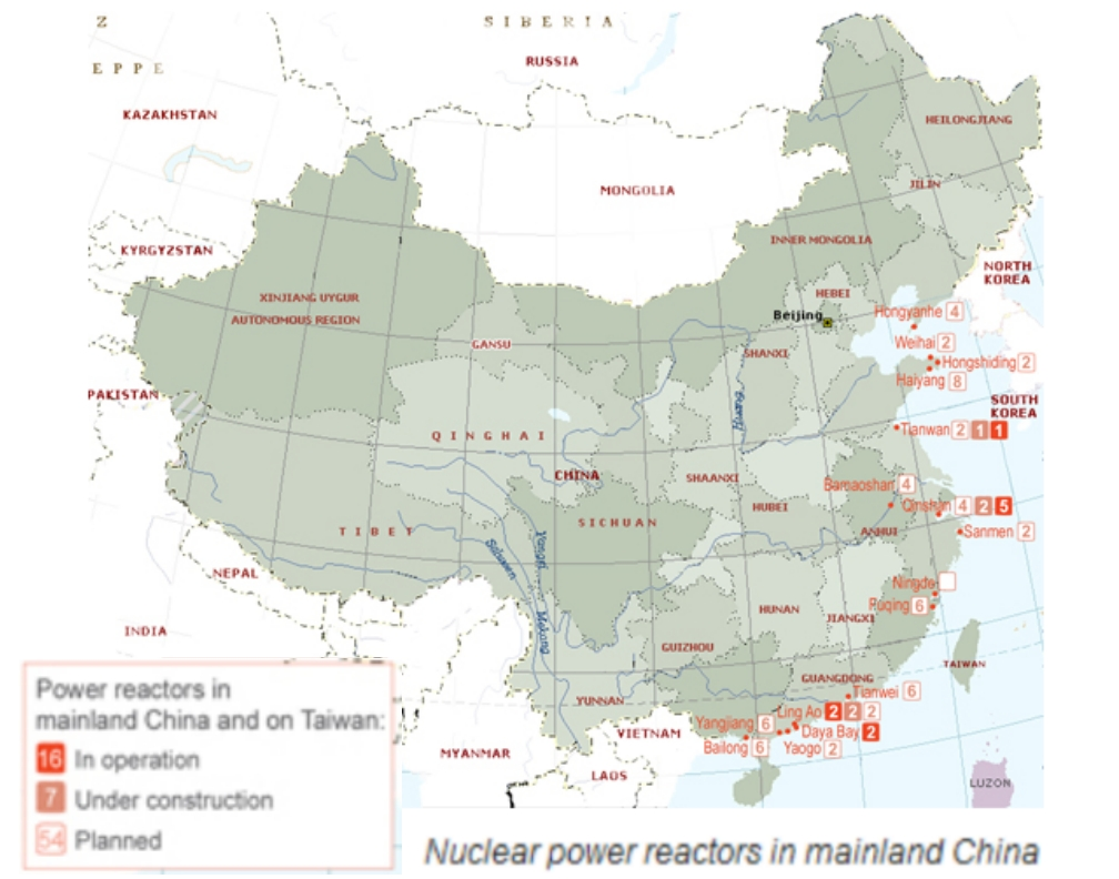 nuclear power in china The fukushima daiichi nuclear disaster was a series of equipment failures, nuclear meltdowns and releases of radioactive materials at the fukushima nuclear power.