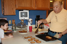 Papa Baking Cookies for Daniel