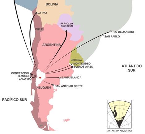 Situacion Geográfica de Zapala