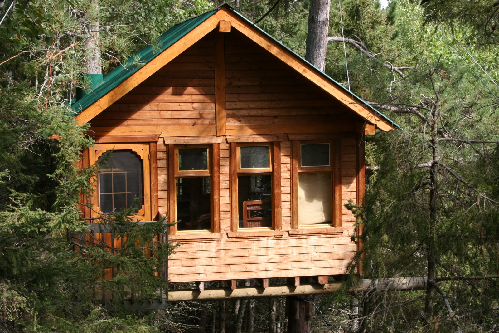 Florida spa girls glamping for Three tree treehouse plans
