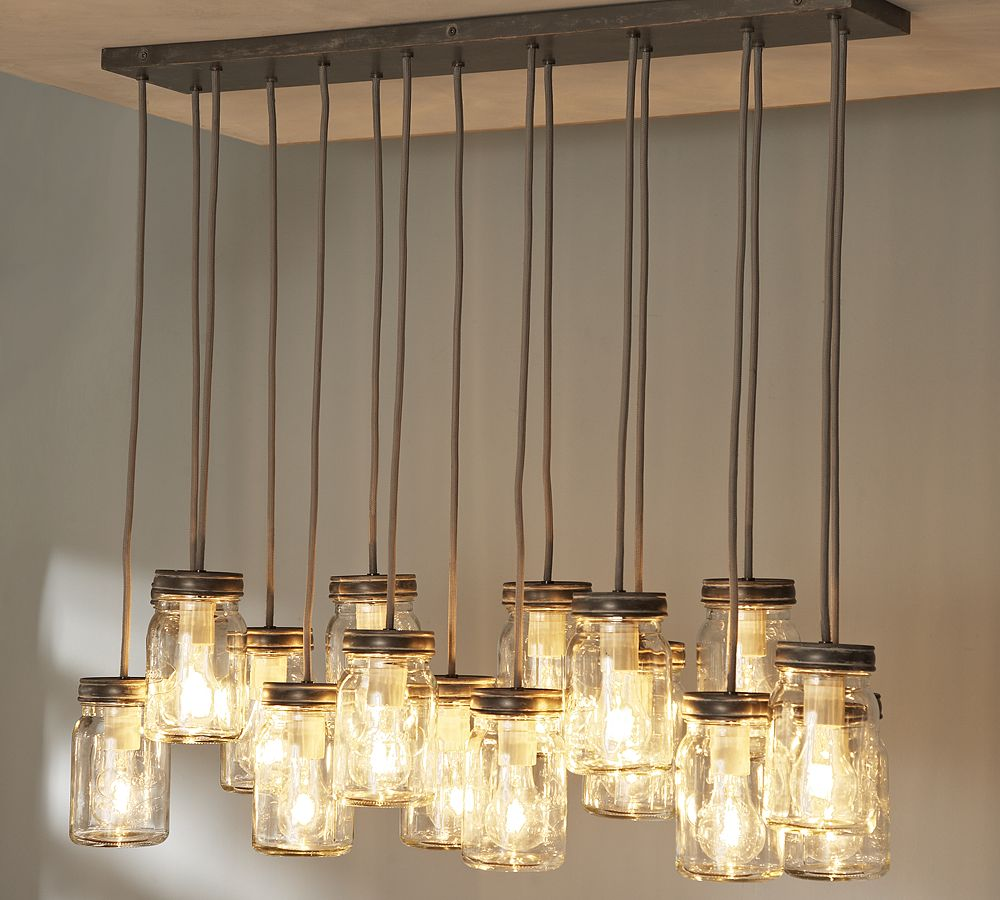 Pottery Barn Chandelier Wiring Instructions: PB Inspired Mason Jar Chandelier