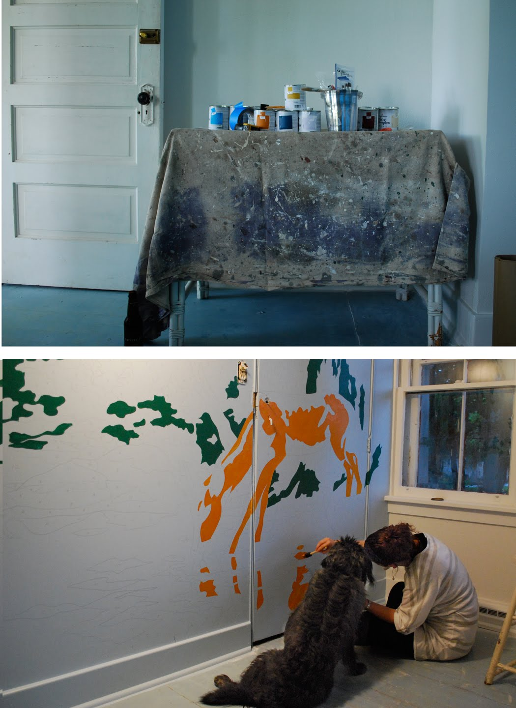 project vintage paint by number mural camp wandawega nursery mural its as easy as it looks
