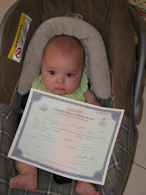 www.plattnerfamily.com: Consular Report of Birth Abroad