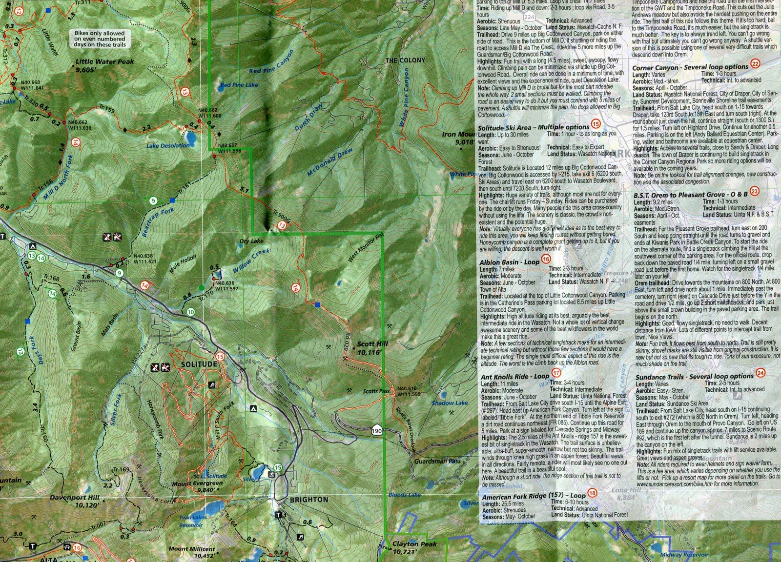 adventure map s salt lake park city utah trail map guide