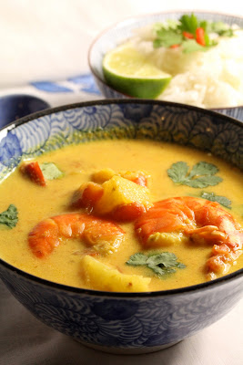 Curry de gambas et ananas