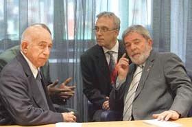 Machado Ventura durante su encuentro con Luiz Inácio Lula da Silva