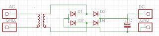 skemat power supply (adaptor) untuk pemula