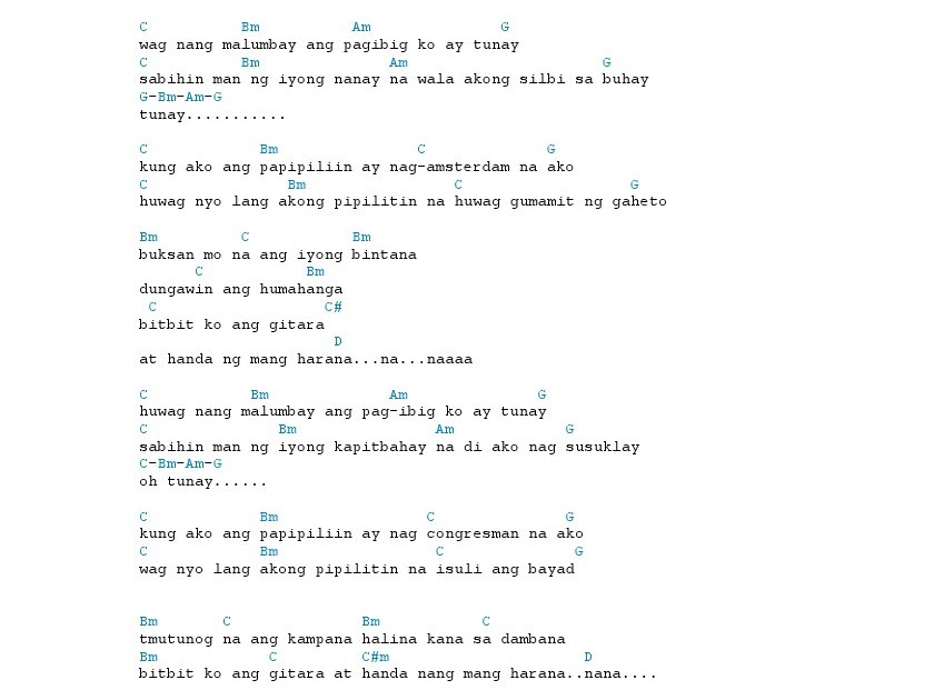 GitaristAko Your Online Source of FREE OPM and International Song Guitar Chords: Harana by ...