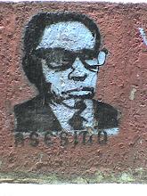 Stencil en la Unidad de Tlatelolco