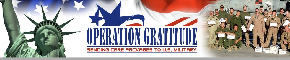 Operation Gratitude Care Package Weekend!