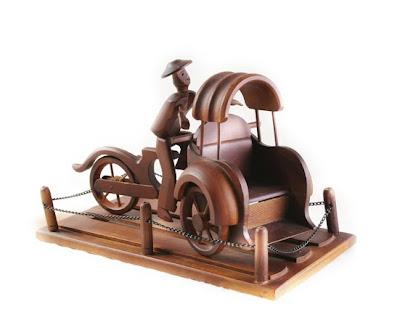 Handicraft Miniature Antique Vehicle, antique Handicraft, Wood Handicraft