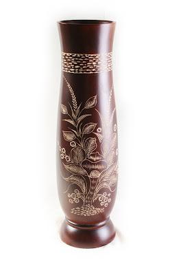 Antique Carved  Vases, wood handicraft