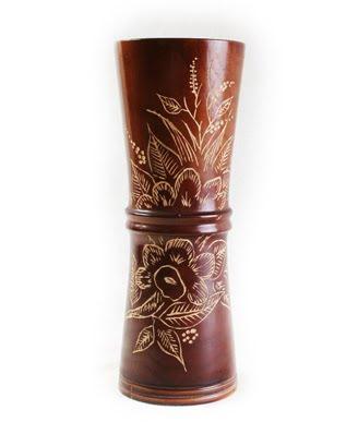 Antique Carved  Vases, antique flower vase