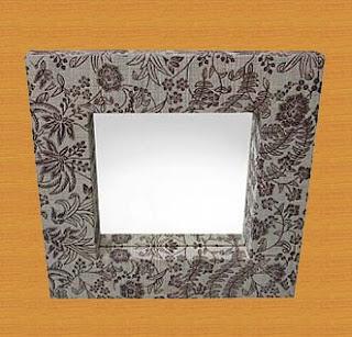 Batik decorative mirror