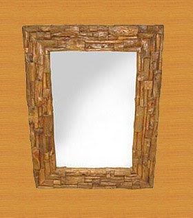 Cinnamon decorative mirror