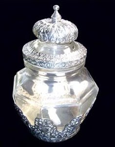 Antique silver toples