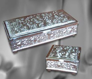 Antique Jewelry Boxes Silver