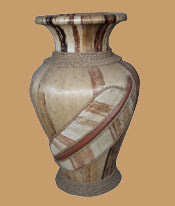 Antique Flowers Vase from banana tree_4