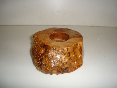 Antique Wood Candle Holder, wood handicraft, candle holder