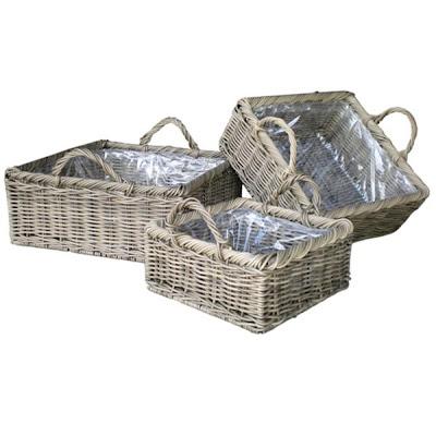 Antique white wicker basket, Basket, Antique Basket, Collection, Natural Rattan