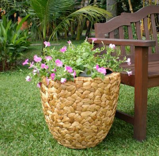 Unique vase of water hyacinth, Vase, Antique Flower Vase, Natural Handicraft