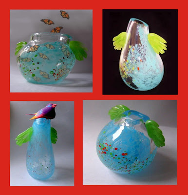 Collection of glass vases, Vase, Modern Vase, Glass Handicraft, Collection, Handicraft Design