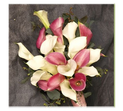 White and Pink Calla Lily Bouquet