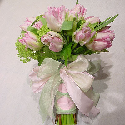 Pink and Green Tulip Bouquet
