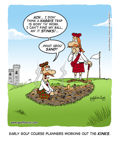 golf cartoons