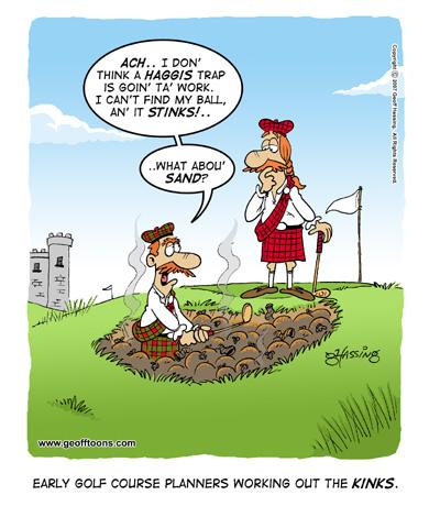 golf cartoons