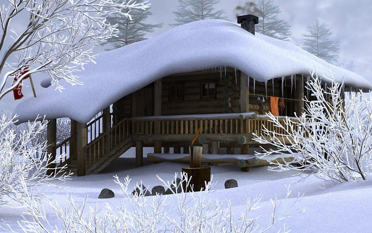 Forest In The Mountain Winter Season Hd Wallpaper