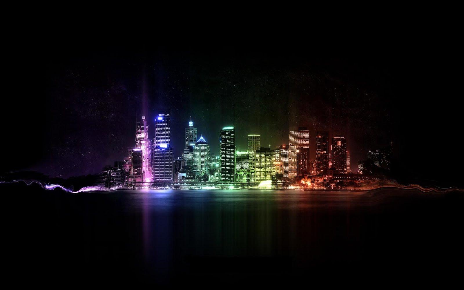Fondo de una Ciudad de Noche ~ Fondos de Pantalla