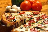 Пицца с оливками и грибами