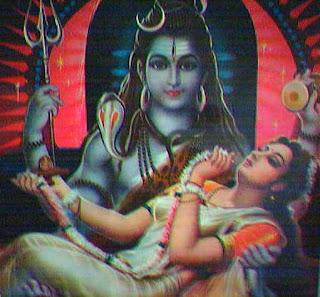 Шива и Парвати - древне-восточный упреждающий ответ на печальнейшую повесть о Ромео и Джульетте. Рисунок.