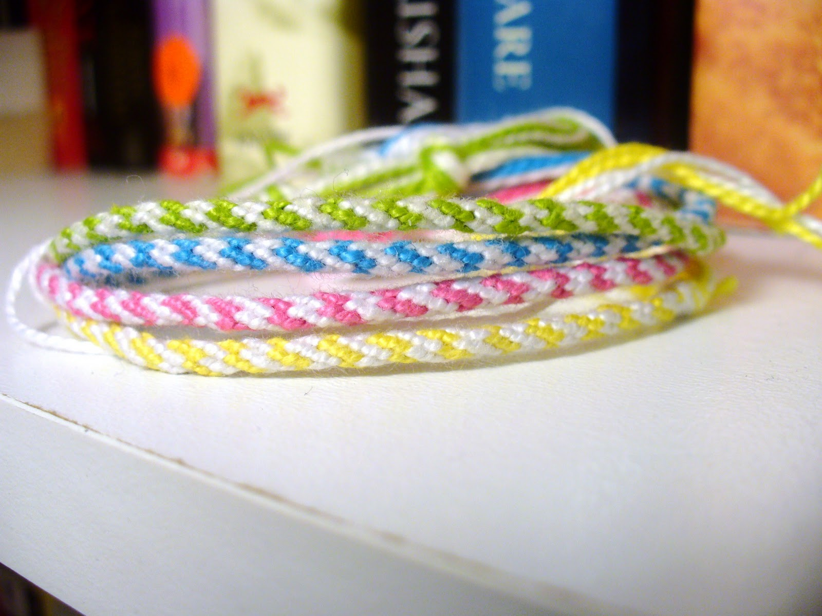 rope braid friendship bracelet white bright 4 striped bracelets set $