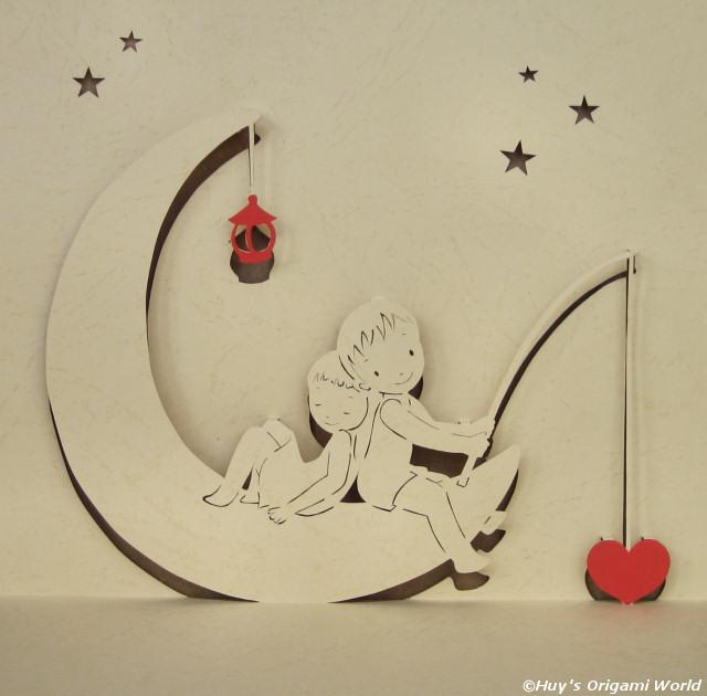 Valentine Pattern : Love Moon (Fishing)