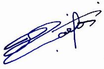 Assinatura do meu Rei !