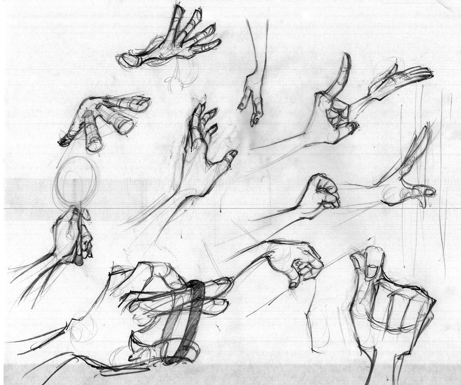 THE GREEDY PENCIL: Hand drawings