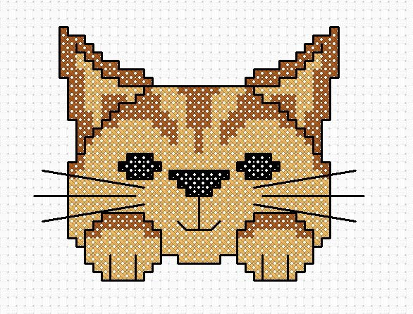 Free online cat cross stitch