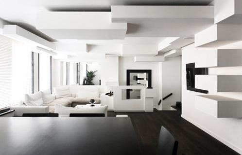 Marzua: Piso en París con techos creativos de los arquitectos ...