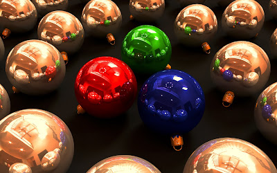 Christmas Glass Balls 3D