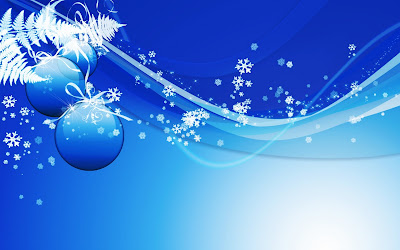 Blue Christmas Magic 3D