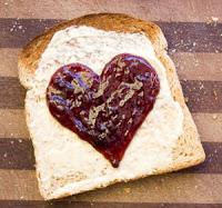 valentines day breakfast toast