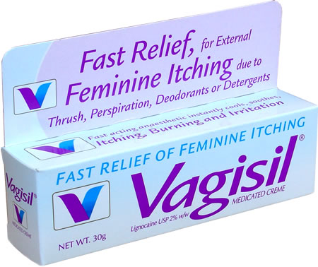 vagisil Vagisil : Relieves yeast infection symptoms like vaginal itch .
