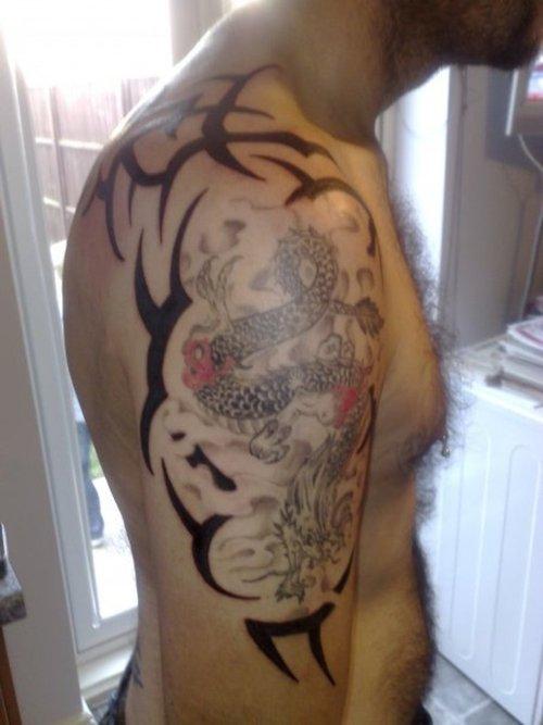 pisces tattoos for men zodiac symbol tattoos. Black Bedroom Furniture Sets. Home Design Ideas