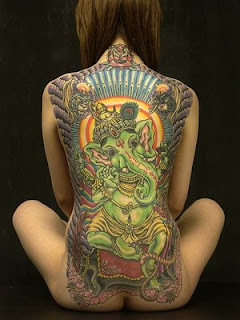 Modern With Back Tattoo for Girl