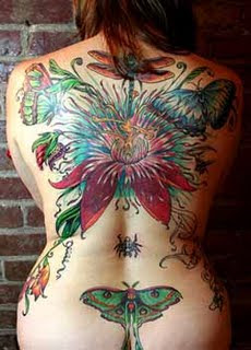 All tattoo collections tropical flower tattoo designs for Lotus flower and butterfly tattoo designs