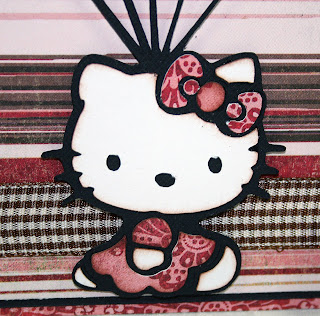 I Used Just A Touch Of Chalk Ink Around The Edges To Help Define Cuts Hello Kitty Is Popped Up Off Card Too