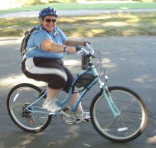 Fat Lady On A Bike